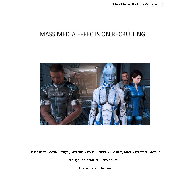 Competing Messages: Mass Media Effects on Recruiting