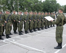 Young soldiers formed