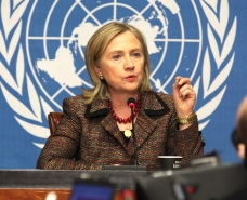 Hillary Clinton as secretary of state in 2011. (United States Mission Geneva / CC BY-ND 2.0)