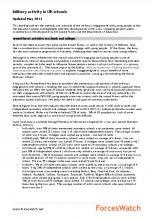 Military activity in UK schools